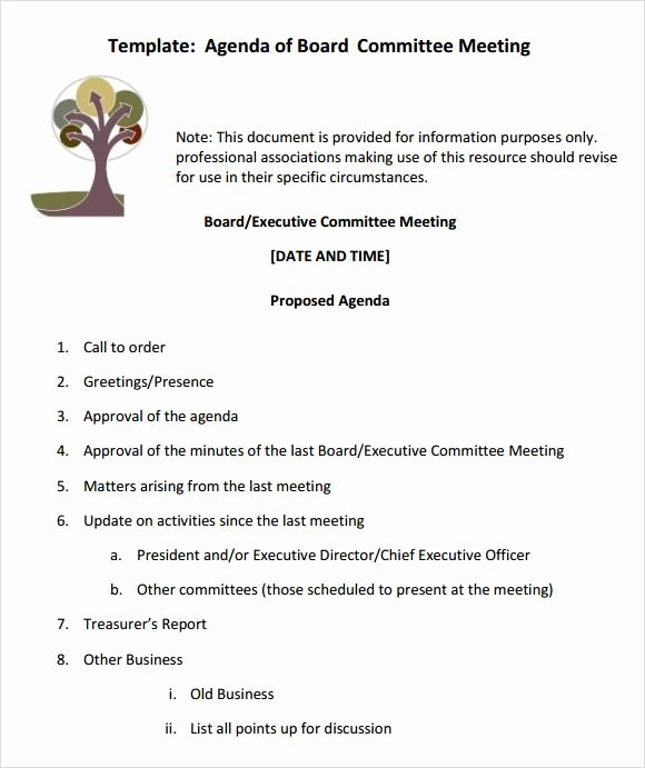 Hoa Board Meeting Minutes Template Unique Board Meeting Agenda Templates