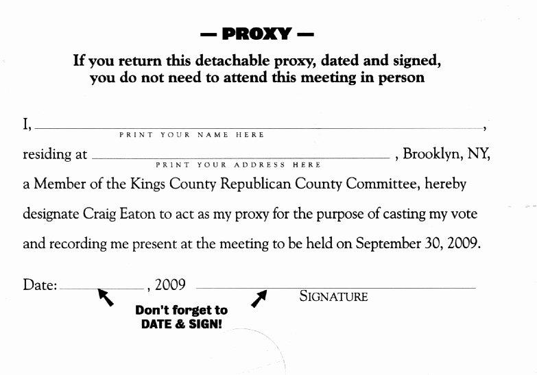Hoa Proxy Vote form Template Fresh Sample Proxy Vote form Parlo Buenacocina