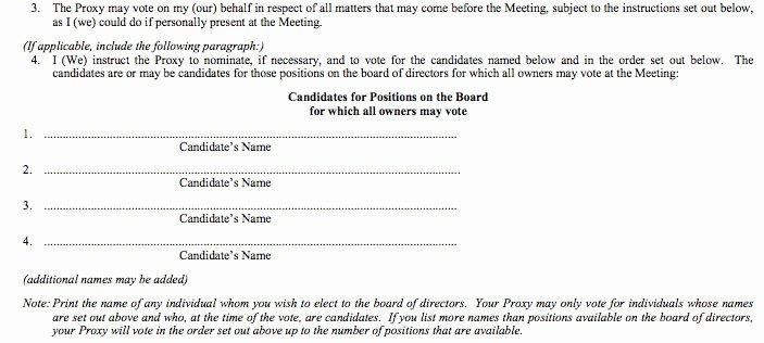 Hoa Proxy Vote form Template New Sample Proxy Vote form Parlo Buenacocina