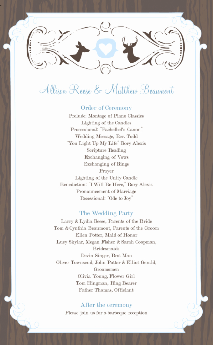 Hobby Lobby Wedding Template Fresh Styles & Ideas Captivating Wedding Program Templates