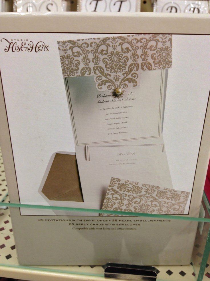 Hobby Lobby Wedding Template New Hobby Lobby Wedding Invitation My Dream Wedding