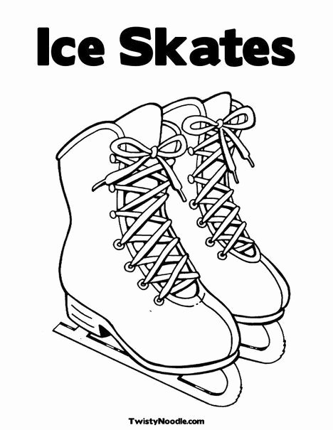 Hockey Skate Template Free Printable Awesome Lots Of Coloring Pages for the Kids