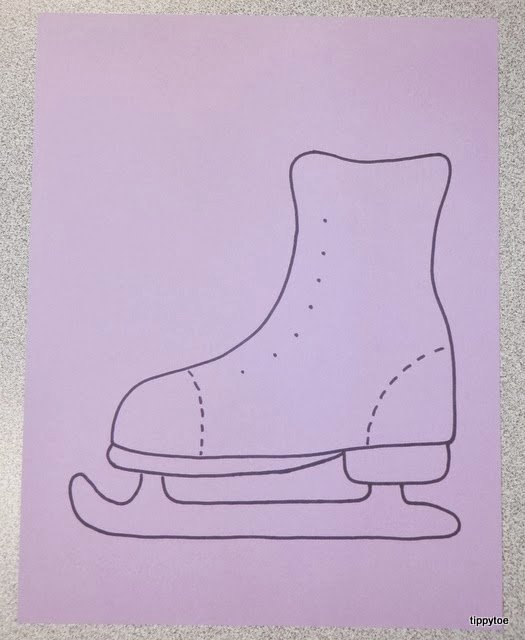 Hockey Skate Template Free Printable Awesome Tippytoe Crafts Ice Skates and A Cup O Cocoa