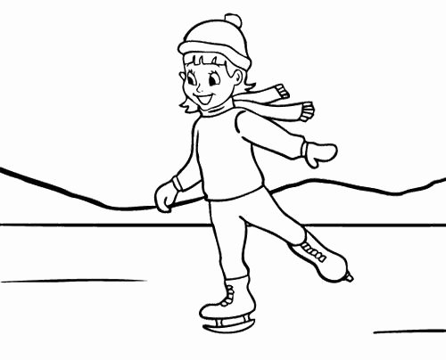 Hockey Skate Template Free Printable Fresh Girl Ice Skating Coloring Page Ice Skating