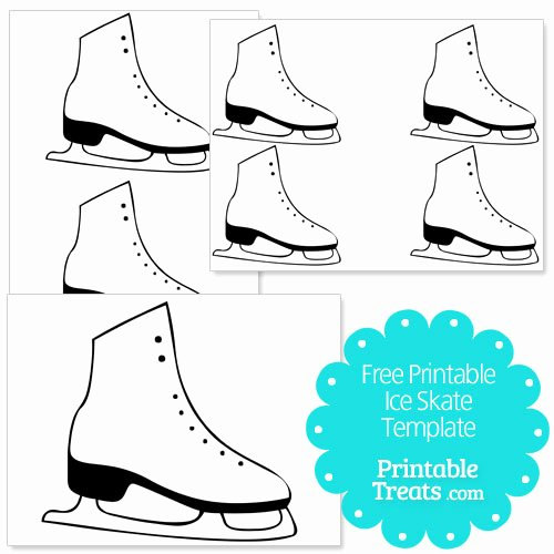 Hockey Skate Template Free Printable New Free Printable Ice Skate Template — Printable Treats