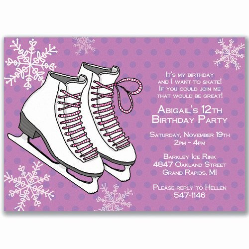 Hockey Skate Template Free Printable Unique Ice Skating Birthday Invitations Ideas – Free Printable