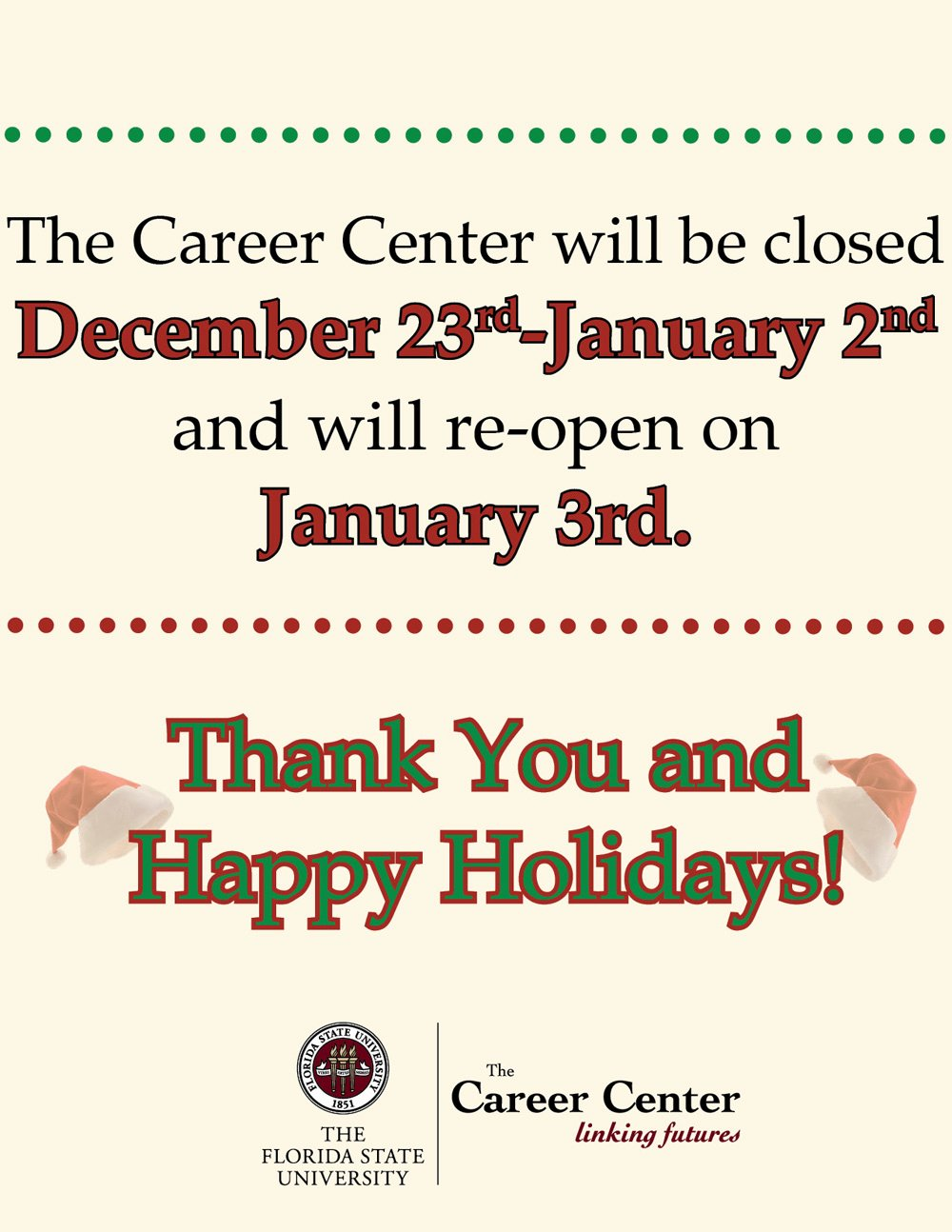 Holiday Closed Sign Template Awesome Fsu Signage
