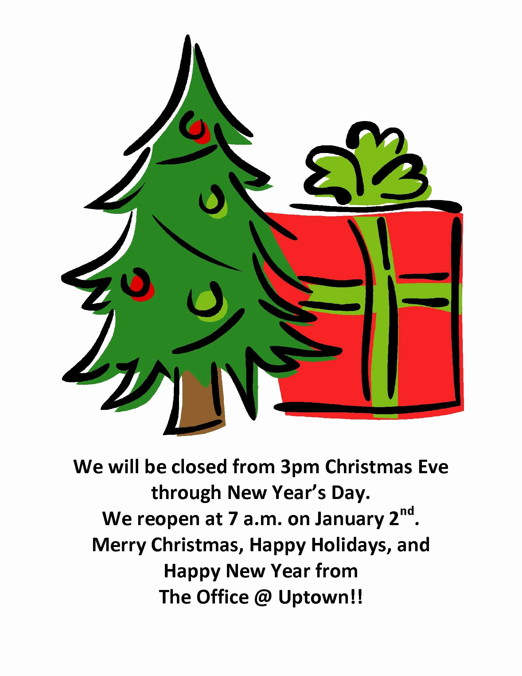 Holiday Closed Sign Template Beautiful events