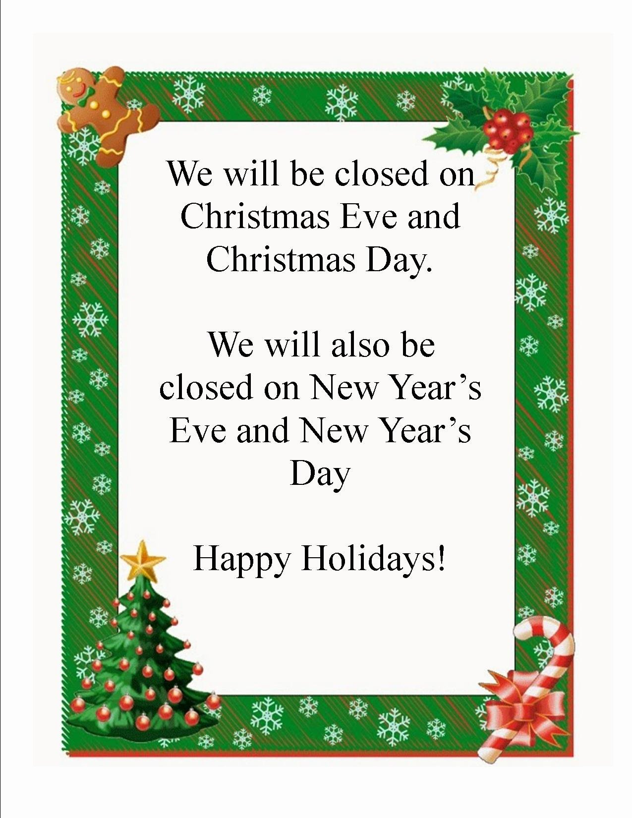 Holiday Closed Sign Template Fresh Mayville Public Library