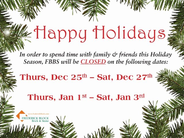 Holiday Closed Sign Template Luxury Closed for the Holidays Sign Free Download Elsevier
