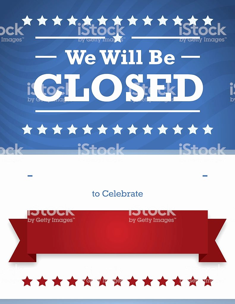 Holiday Closed Sign Template Luxury Memorial Day Holiday Closed Sign Template