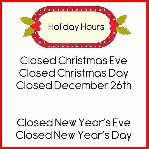 Holiday Closed Sign Template New Doodlebugs December 2014