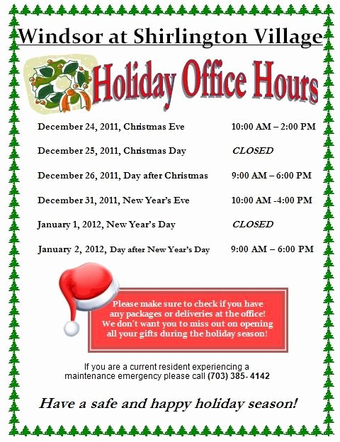 Holiday Closed Sign Template New Free Templates for Business Closing for the Holiday