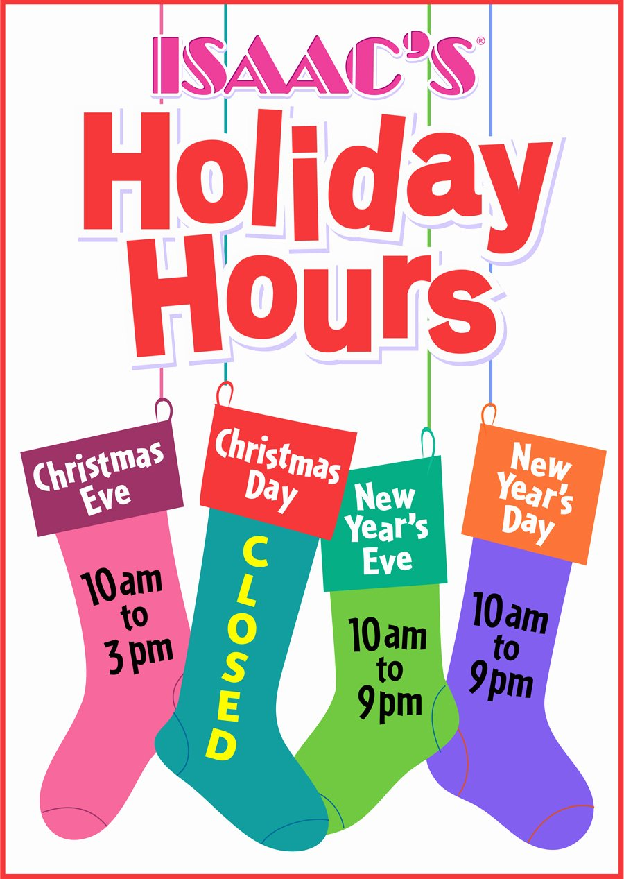 Holiday Closed Sign Template New Holidays Hours 2014