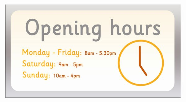 Holiday Hours Sign Template Beautiful Opening Hours Sign