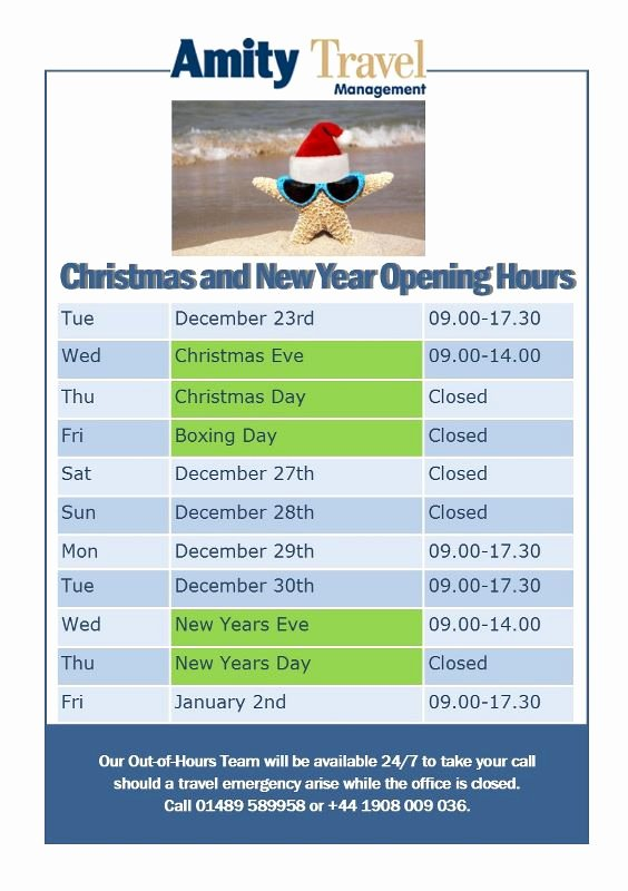 Holiday Hours Sign Template New the Amity Blog Our Holiday Opening Hours