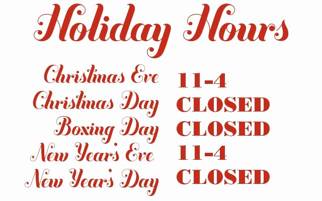 Holiday Hours Sign Template Unique Russet and Empire Holiday Hours