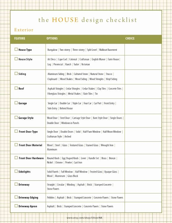 Home Building Checklist Template Elegant Home Renovation Checklist Home Building Checklist