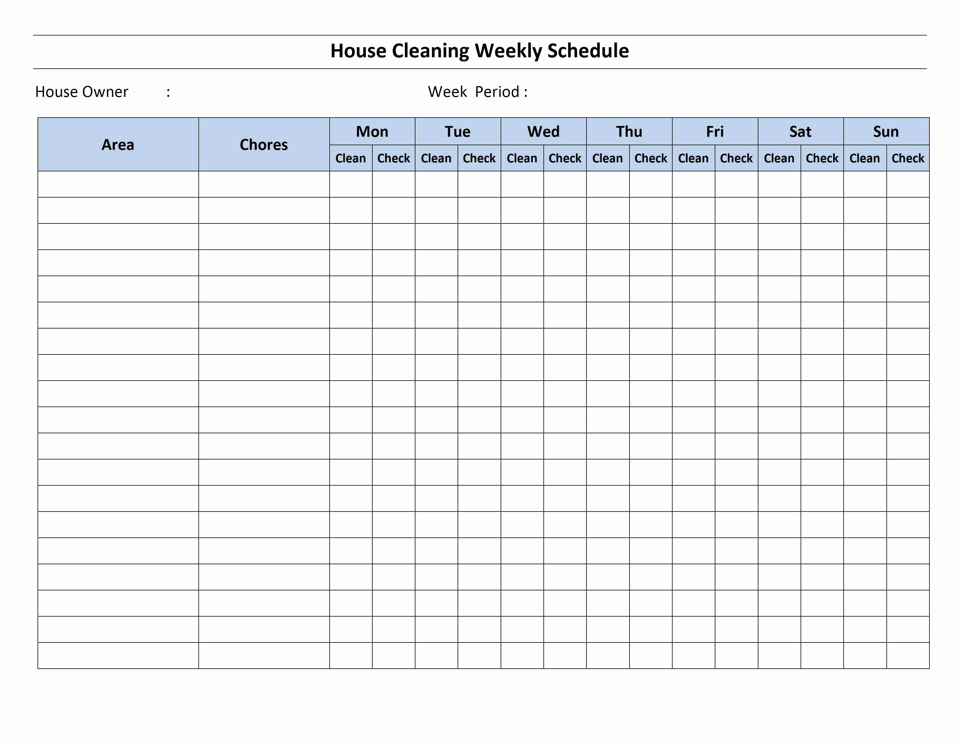 Home Building Checklist Template Luxury Cleaning Schedule Template