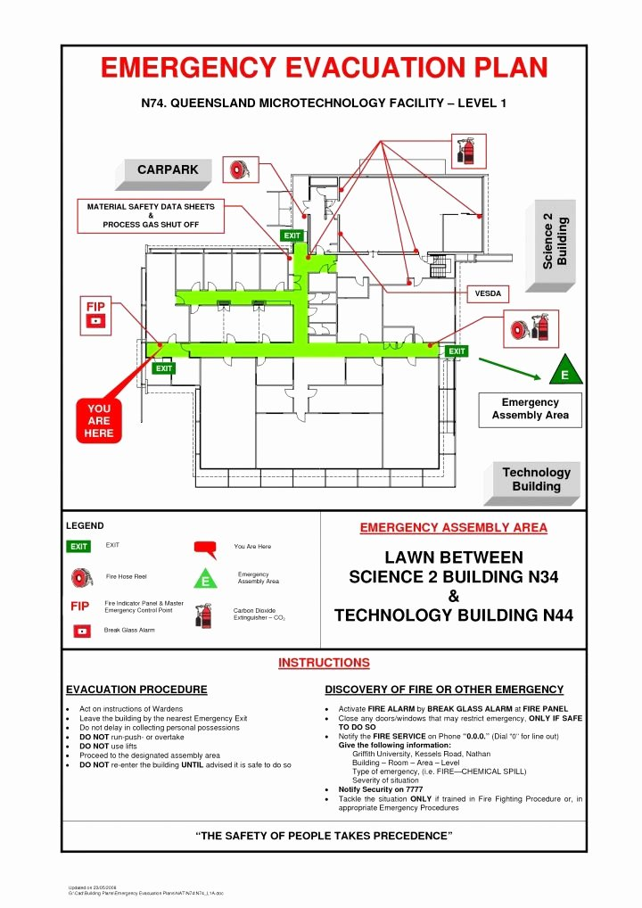 Home Evacuation Plan Template Beautiful Business Emergency Evacuation Plan Template