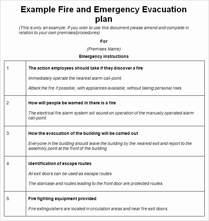 Home Evacuation Plan Template Best Of Emergency Procedures Template Invitation Template