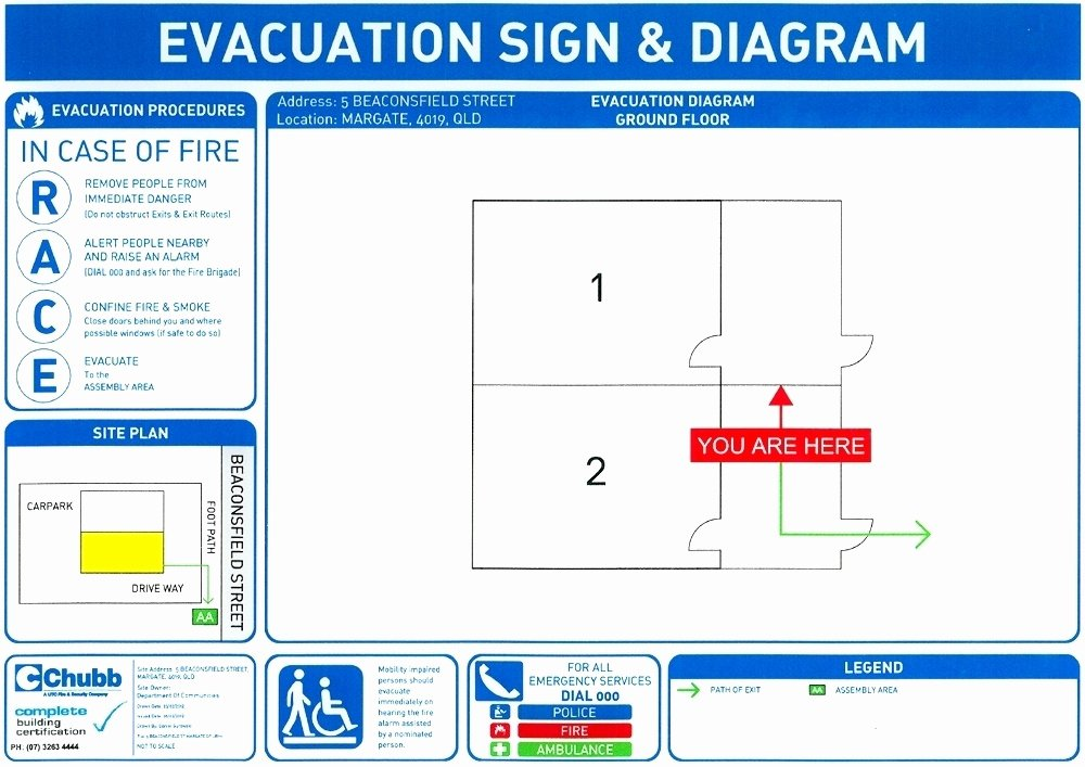 Home Evacuation Plan Template Elegant Free Fire Evacuation Plan Template