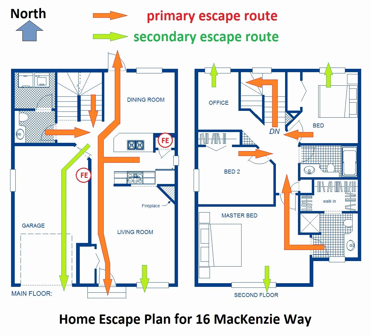 Home Evacuation Plan Template Inspirational Home Fire Escape Plan