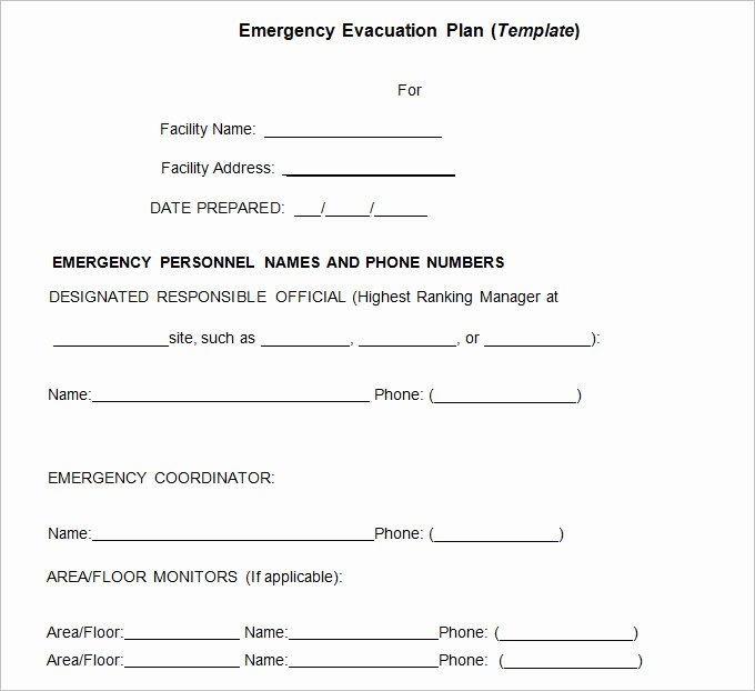 Home Evacuation Plan Template New 3 Emergency Evacuation Plan Template Word Pdf Google