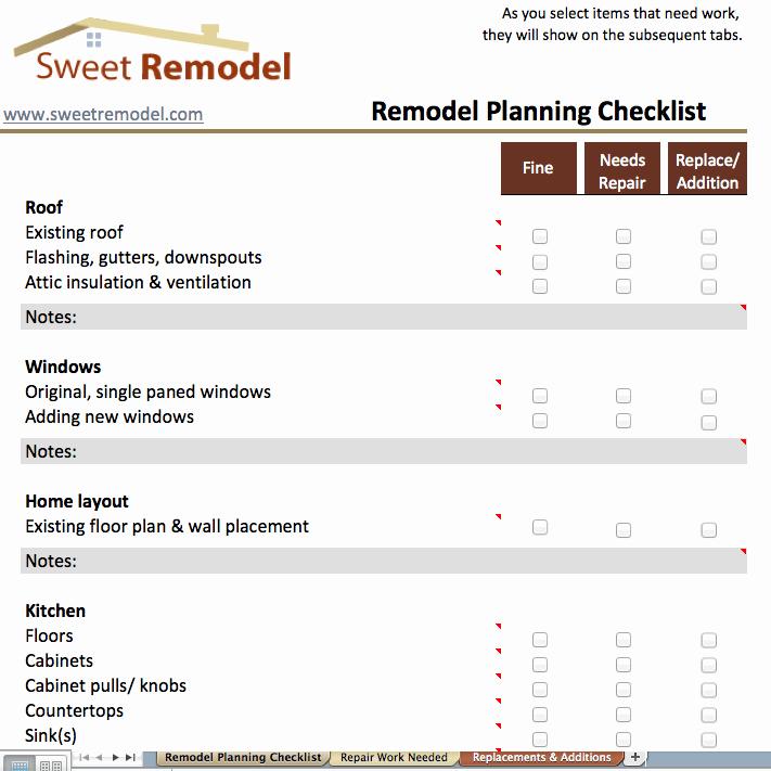 Home Renovation Checklist Template Luxury Remodel Planning Checklist Checklist to Go Through when