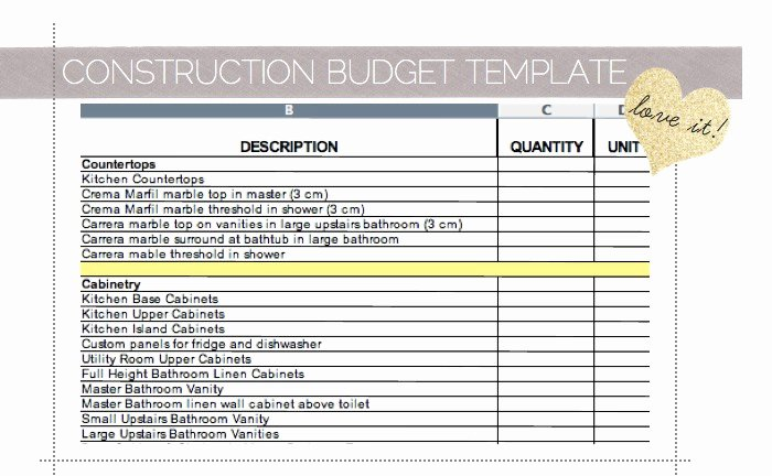 Home Renovation Project Plan Template Excel Luxury Home Remodel Bud Worksheet – Remodel Quick Tips