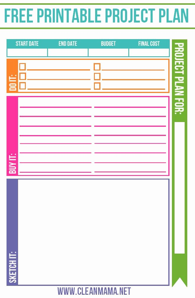 Home Renovation Project Plan Template Lovely Free Project Planner Free Printables