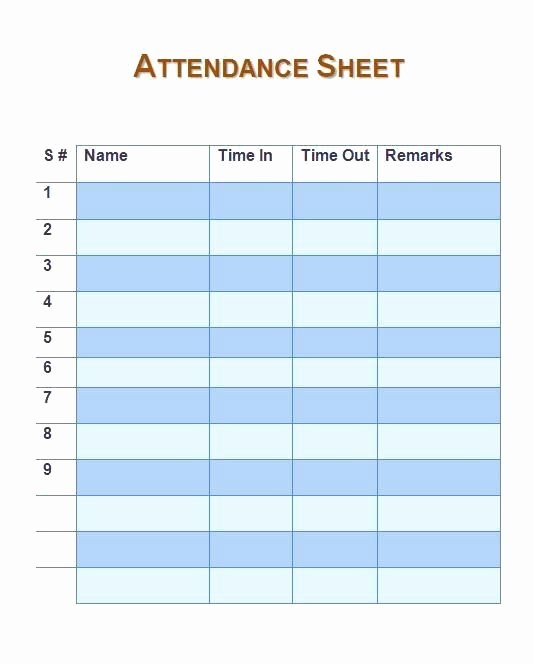 Homeschool attendance Record Excel Awesome Employee Daily attendance Sheet