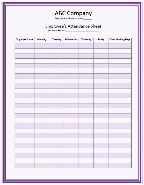 Homeschool attendance Record Excel Unique 17 Best Ideas About attendance Sheet Template On Pinterest