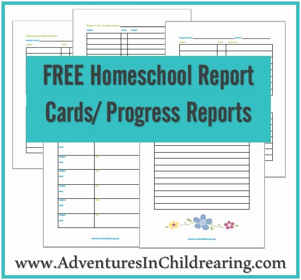 Homeschool Grading Template Awesome Free Homeschool Printable Progress Report and Report Card