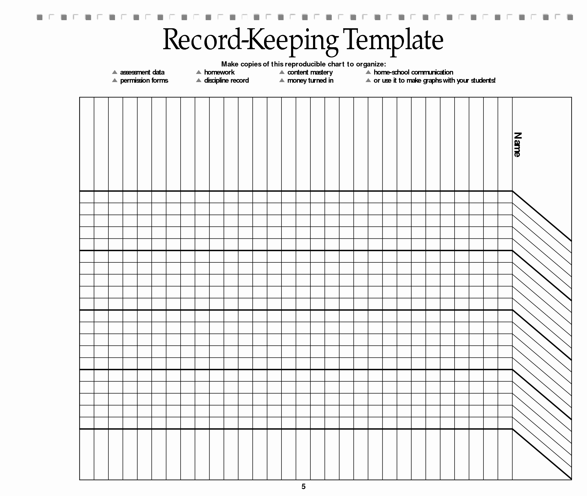 Homeschool Grading Template Awesome Free Printable Record Keeping forms