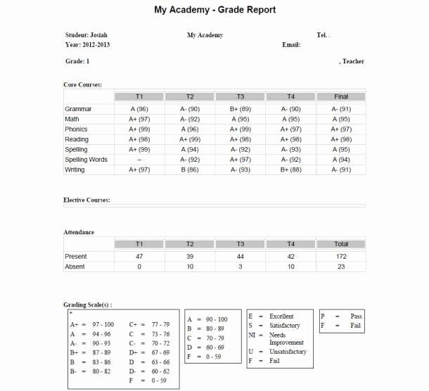 Homeschool Grading Template Fresh Report Card Check…finally