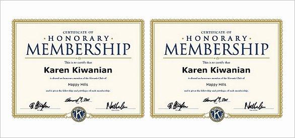 Honorary Certificate Template Elegant 10 Membership Certificate Templates