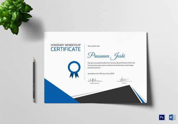 Honorary Certificate Template Fresh 20 Training Certificate Templates