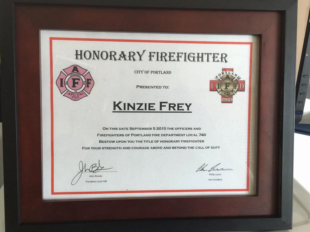 "Honorary Firefighter Certificate Beautiful Portland Fire Dept On Twitter ""e306 A305 Visited A"