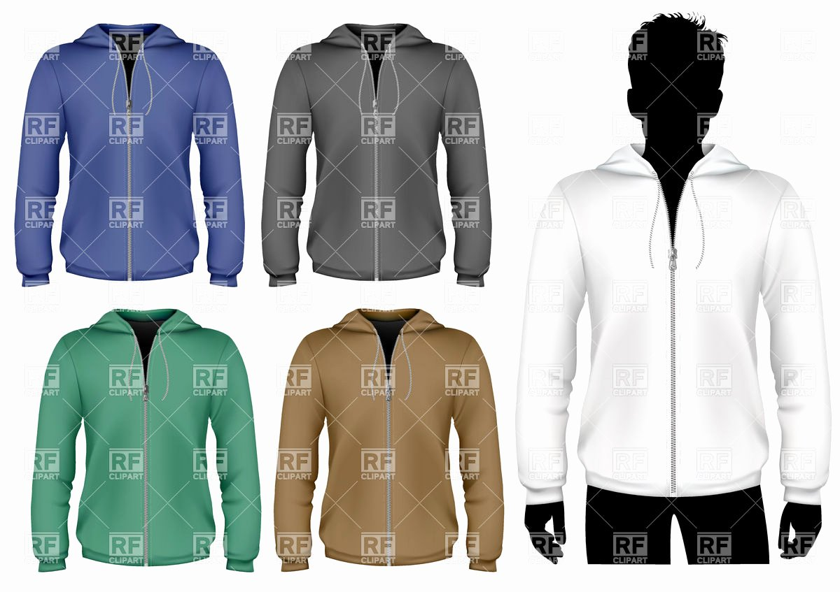 Hooded Sweatshirt Template Awesome Hooded Sweatshirt with Zipper Design Template Royalty Free