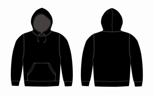 Hooded Sweatshirt Template Best Of top Blank Hoo Template Drawing Clip Art Vector