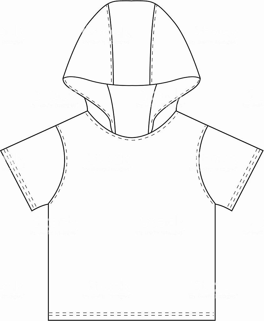 Hooded Sweatshirt Template Lovely Boys Hooded Tshirt Template Stock Vector Art & More