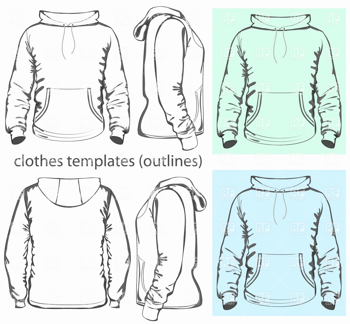 Hooded Sweatshirt Template New Men S Hooded Sweatshirt Template with Pocket On Belly