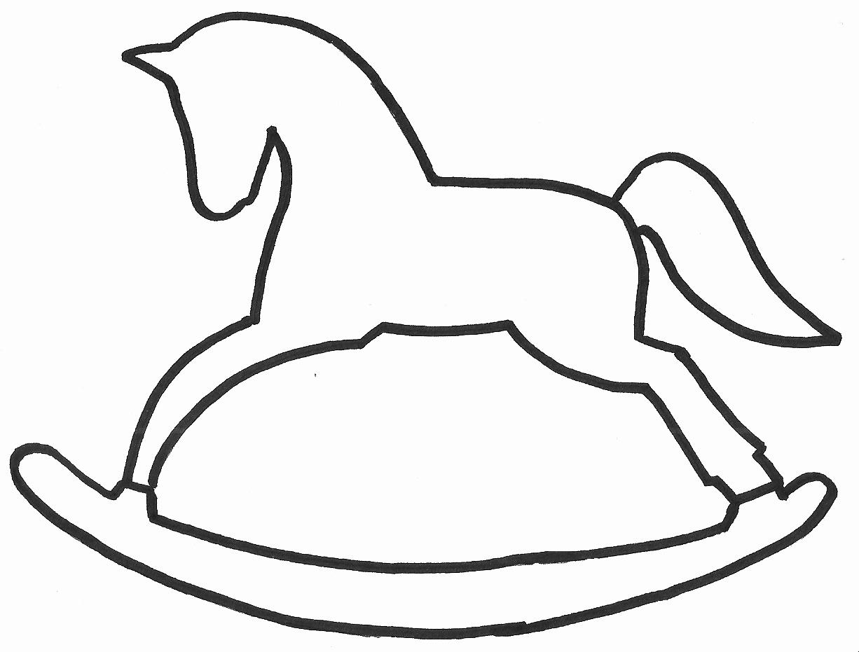 Horse Cake Template Beautiful Szablon Konik Na Biegunach Rocking Horse Template