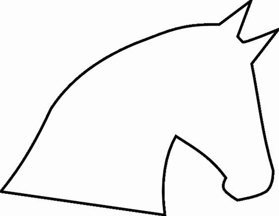 Horse Cake Template Elegant Horse Head Outline