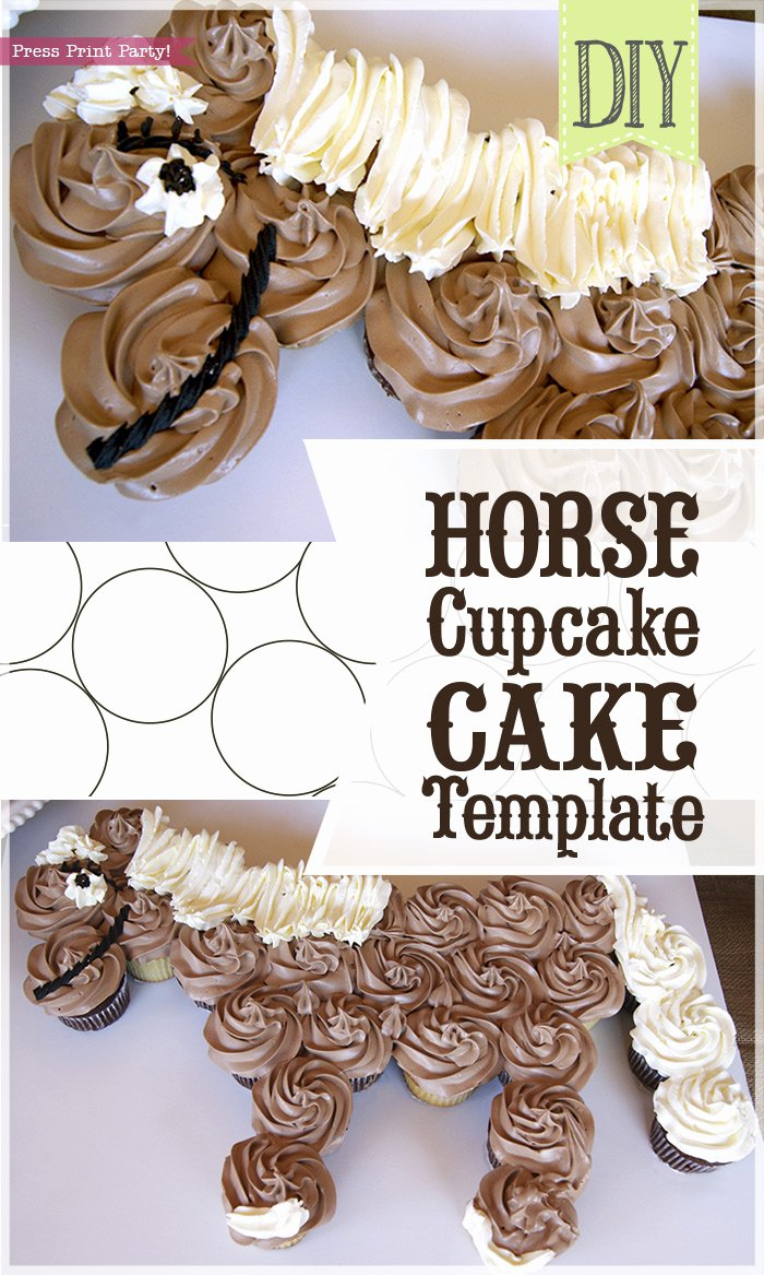 Horse Cake Template Unique Horse Cupcake Cake How to W Free Template by Press Print