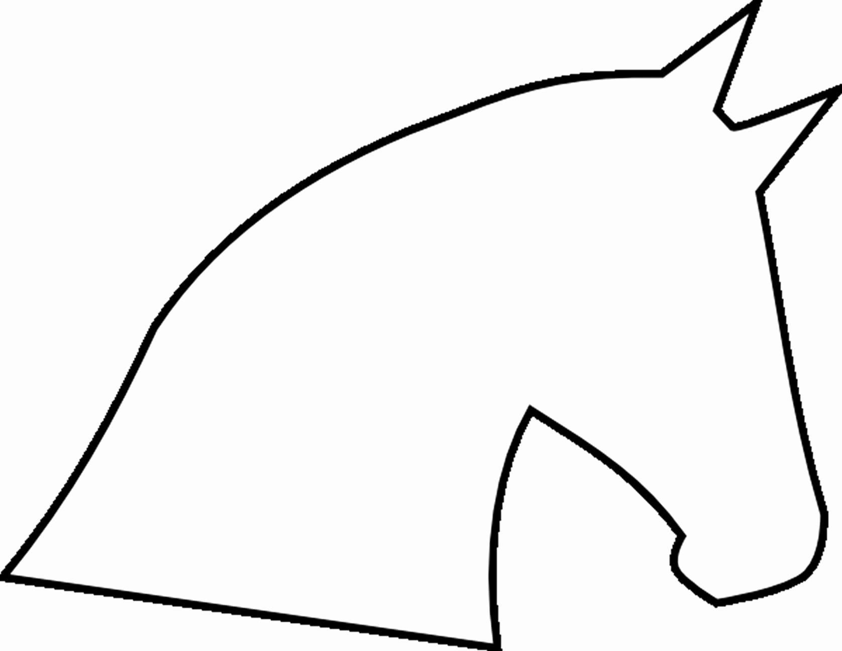 Horse Cake Template Unique Horse Head Outline
