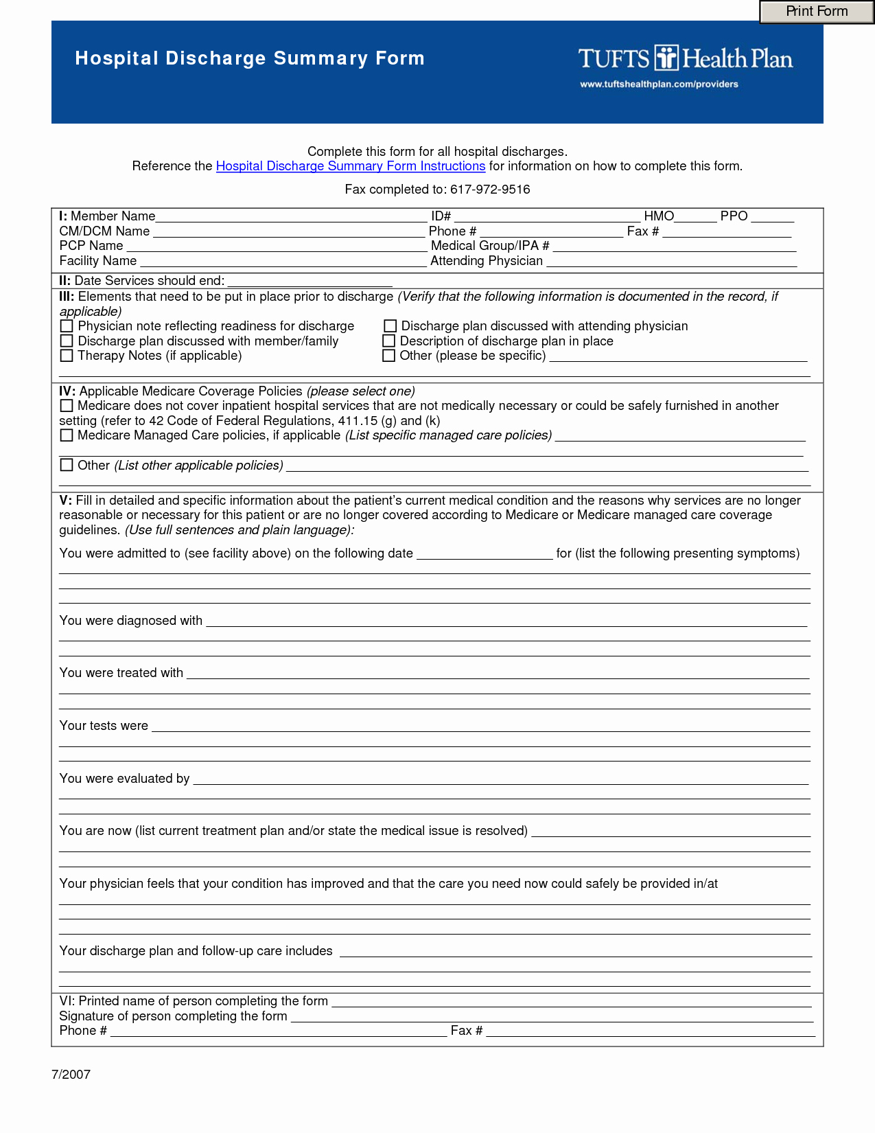 Hospital Discharge Papers Template Beautiful 9 Best Of Free Printable Hospital Discharge forms