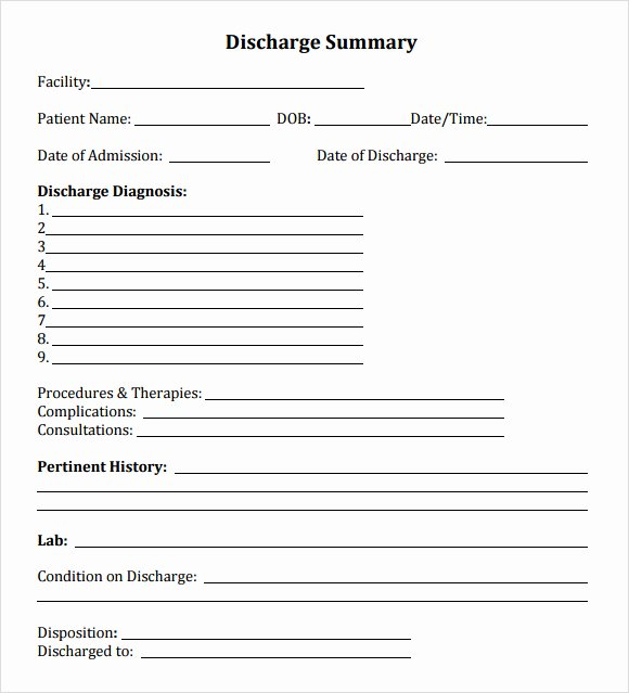 Hospital Release form Template Beautiful Hospital Discharge form Word Template Microsoft Excel