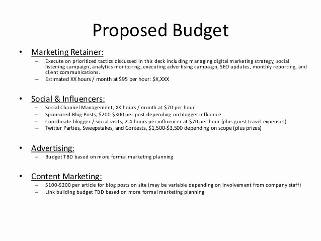 Hotel Proposal Template Beautiful Digital and social Content Marketing Proposal Example for
